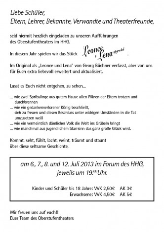 Flyer Leonce und Lena upgraded2 332x470